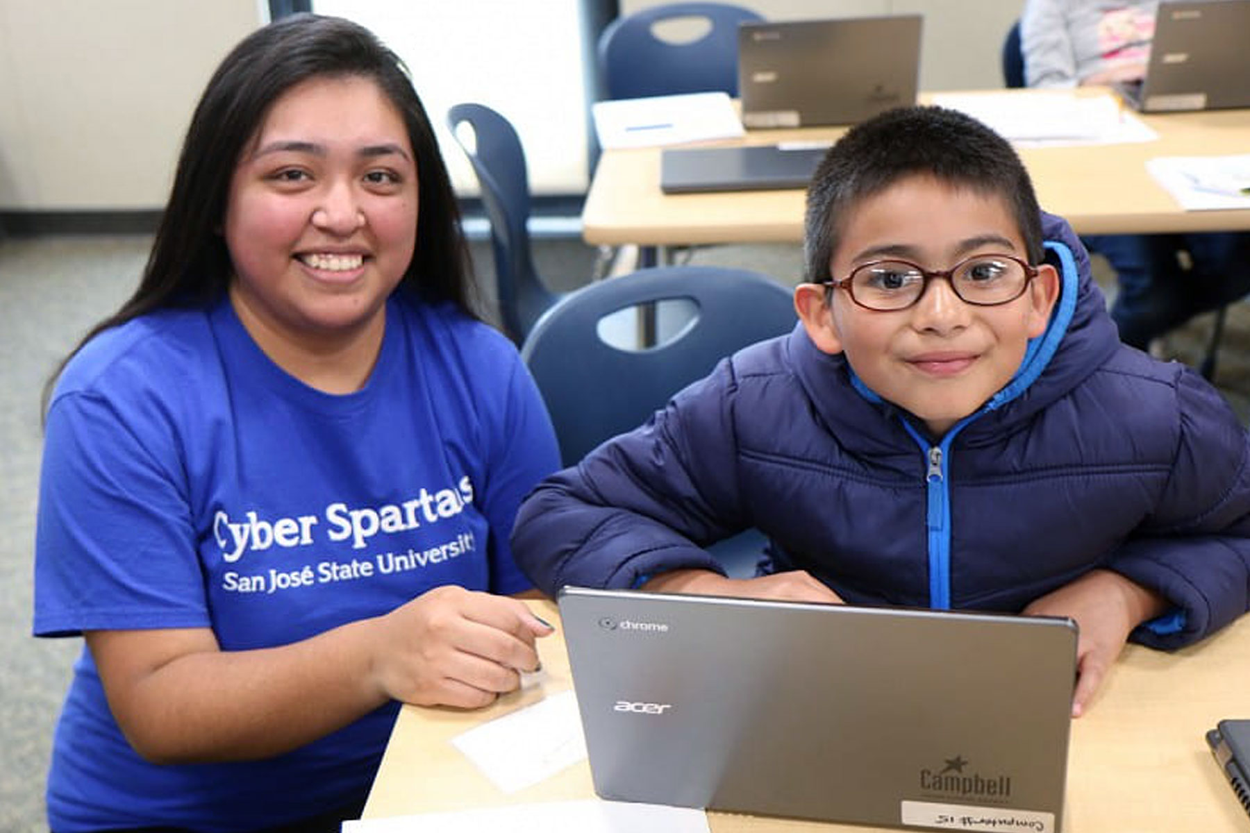 Cyber Spartans Encourage Next Generation of Coders.