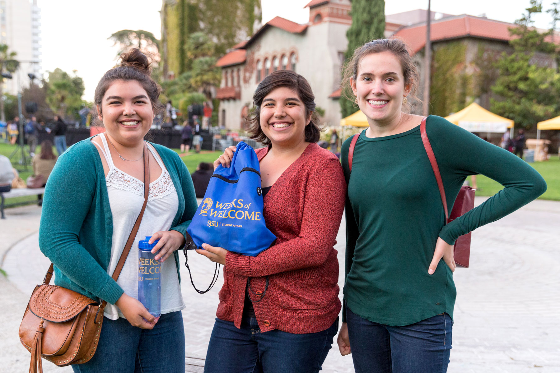 SJSU students at the Weeks of Welcome event.