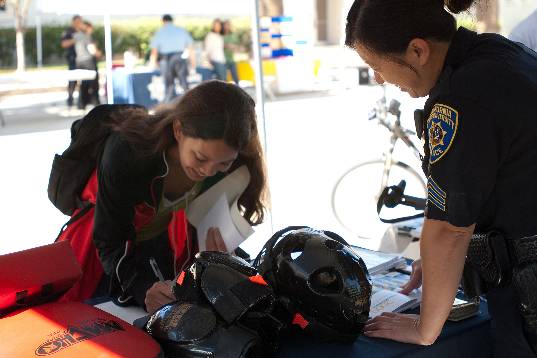 Annual UPD Safety Fair took place at the Paseo de Cesar Chavez pathway.