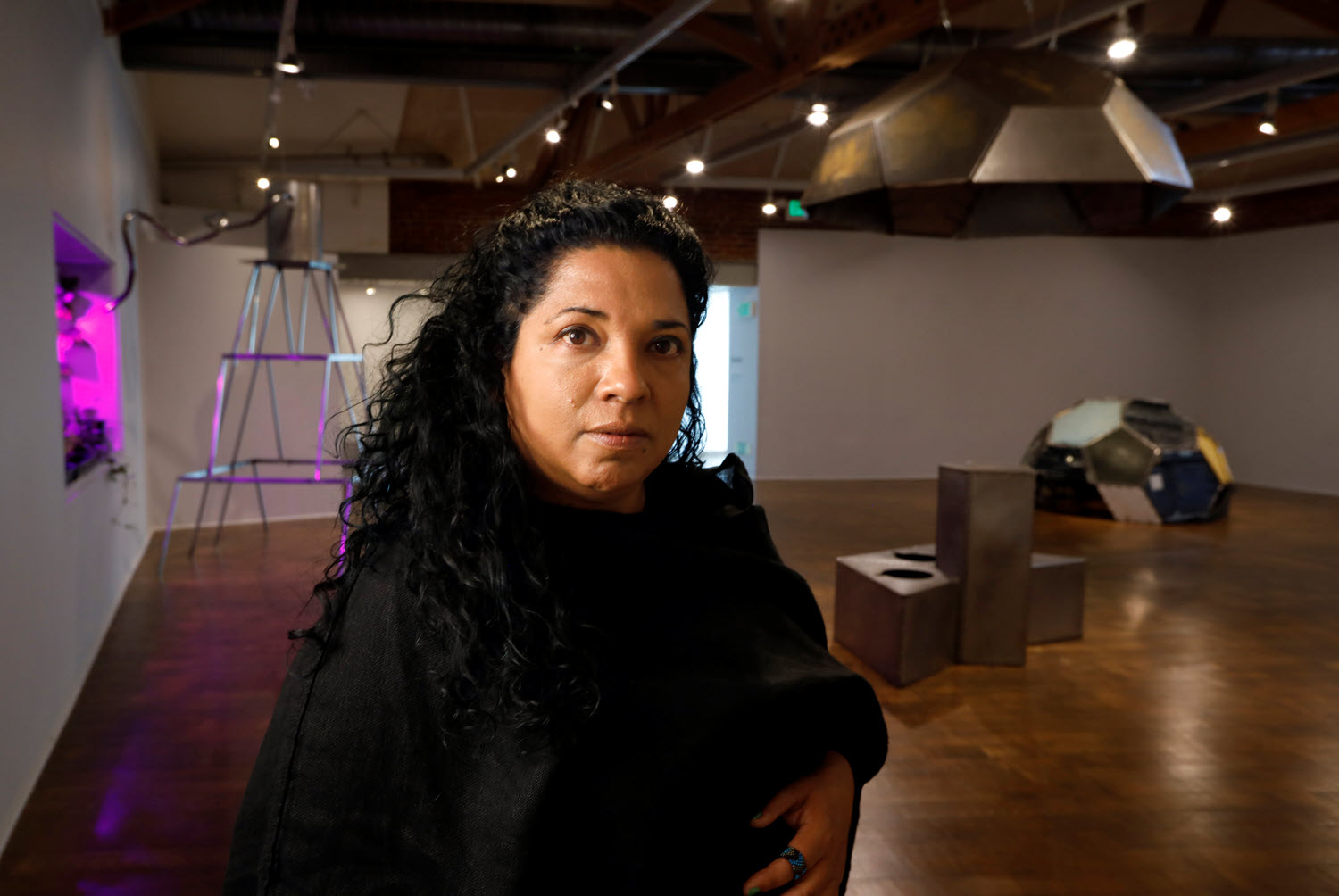 Artist Beatriz Cortez. Photo credit Carolyn Cole, LA Times. Courtesy of the artist and Commonwealth and Council.